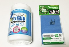 02_elecom_wet_tissue_and_sanwa_lcd_cloth